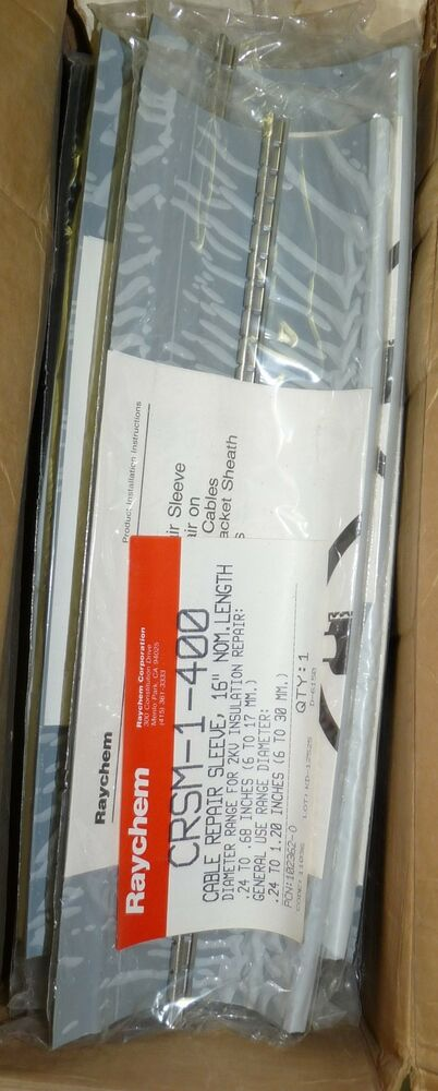 LOT OF 5 NEW RAYCHEM CRSM-1-400 CABLE REPAIR SLEEVE 16\