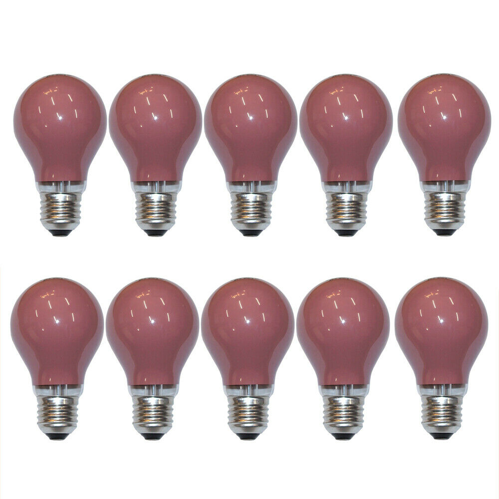 10 x gl hbirne 25w e27 rot gl hlampe 25 watt gl hbirnen gl hlampen bunt party ebay. Black Bedroom Furniture Sets. Home Design Ideas