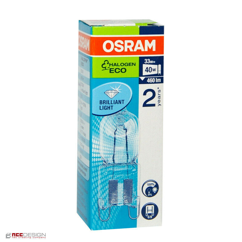 osram g9 eco halogen stiftsockellampe 230v 33w 40w halogenlampe halopin 66733 ebay. Black Bedroom Furniture Sets. Home Design Ideas