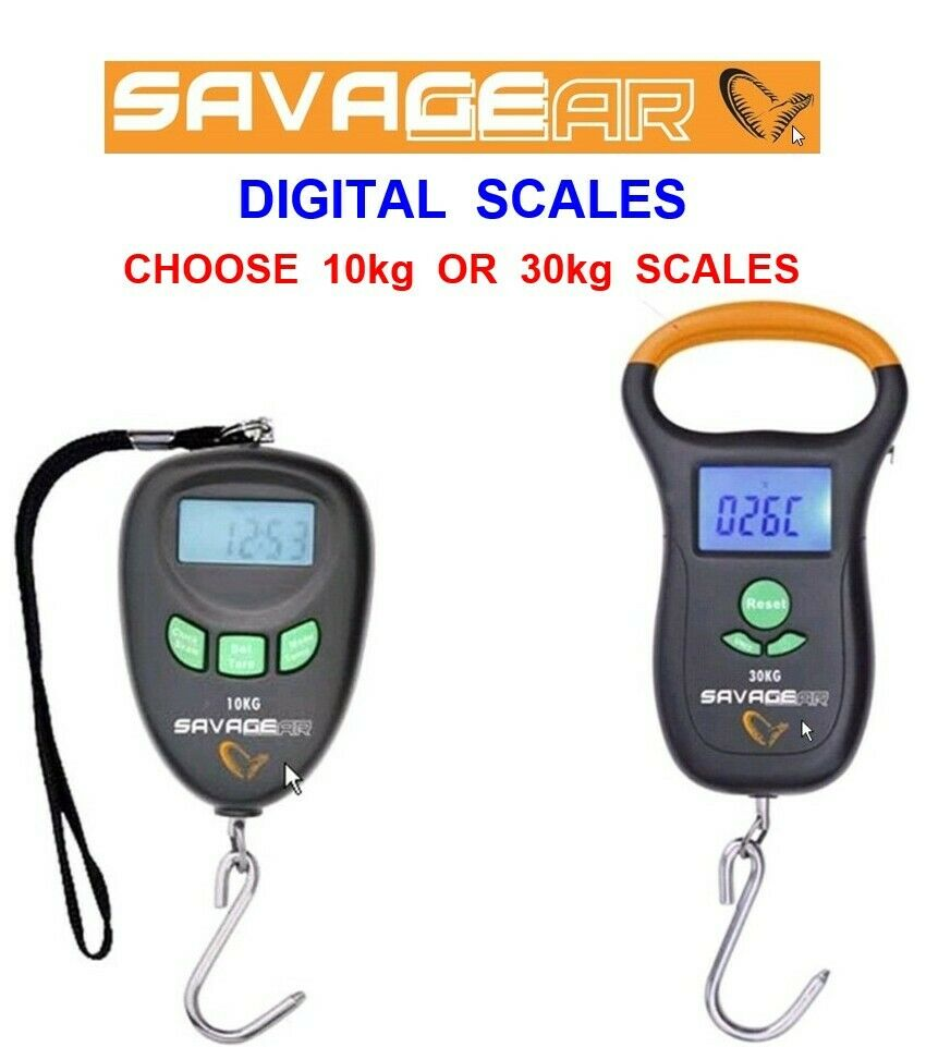 Savage gear digital scales for carp pike fishing weigh for Fish weighing scales