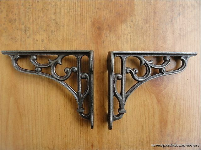 a pair of small classic victorian scroll shelf brackets 4. Black Bedroom Furniture Sets. Home Design Ideas