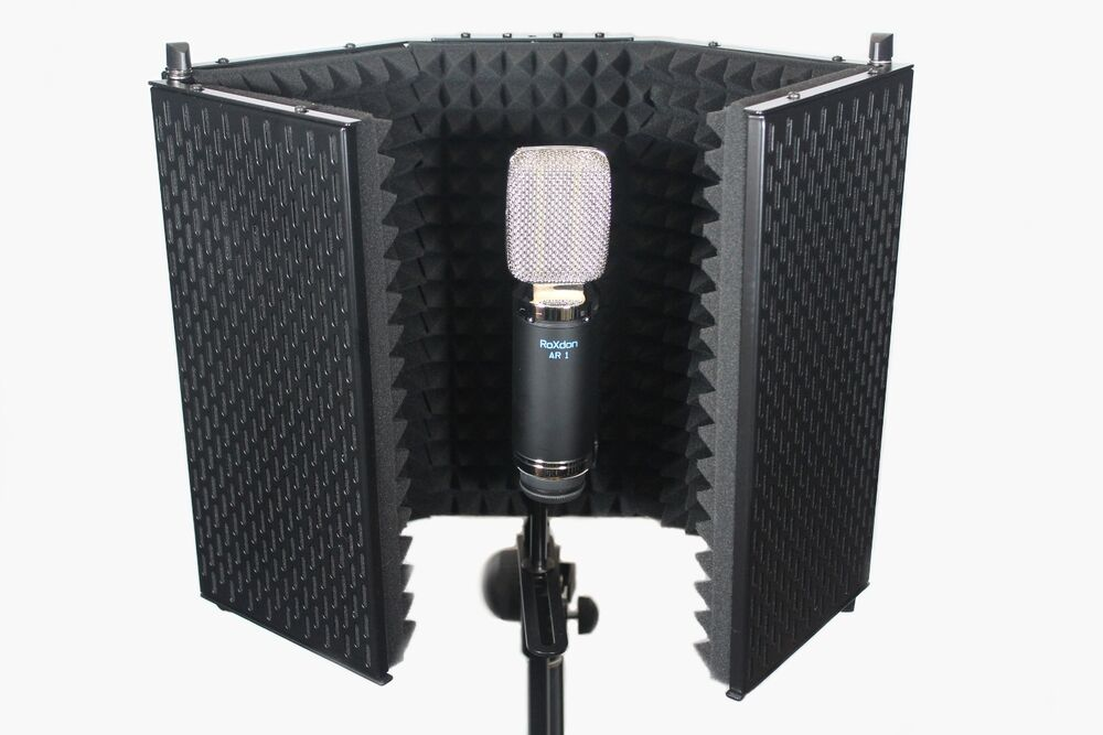 roxdon vb 1 mk2 studio microphone mic vocal booth sound reflection filter screen ebay. Black Bedroom Furniture Sets. Home Design Ideas