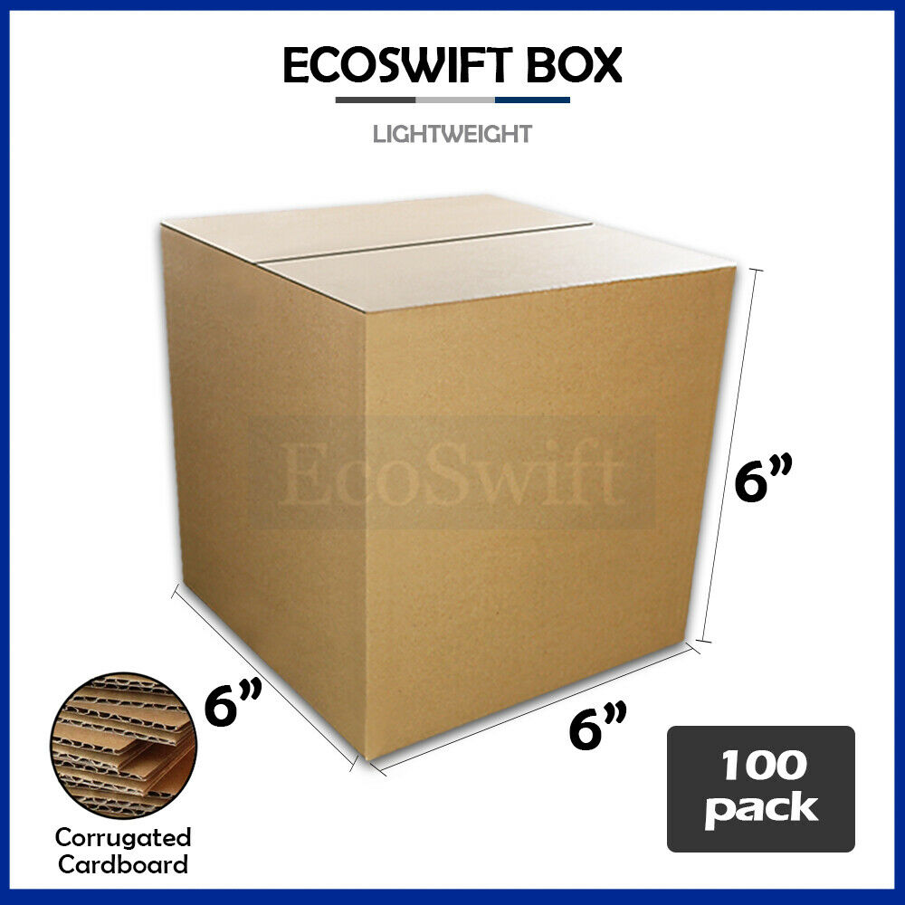100 6x6x6 cardboard packing mailing moving shipping boxes. Black Bedroom Furniture Sets. Home Design Ideas