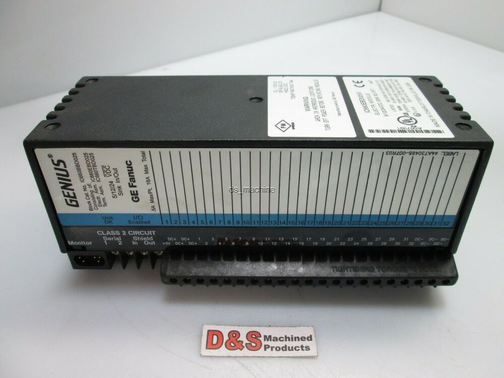 Ge fanuc ic660ebd025v electronic module w ge fanuc for Ge motors industrial systems