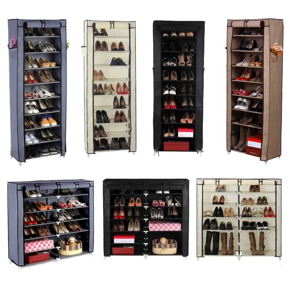 Songmics shoe rack shoes cabinet stand standing storage organizer furniture ebay - Types of shoe storage solutions for the bedroom ...