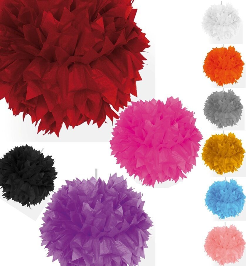 pompom einzeln farbwunsch papier ball blume geburtstags. Black Bedroom Furniture Sets. Home Design Ideas