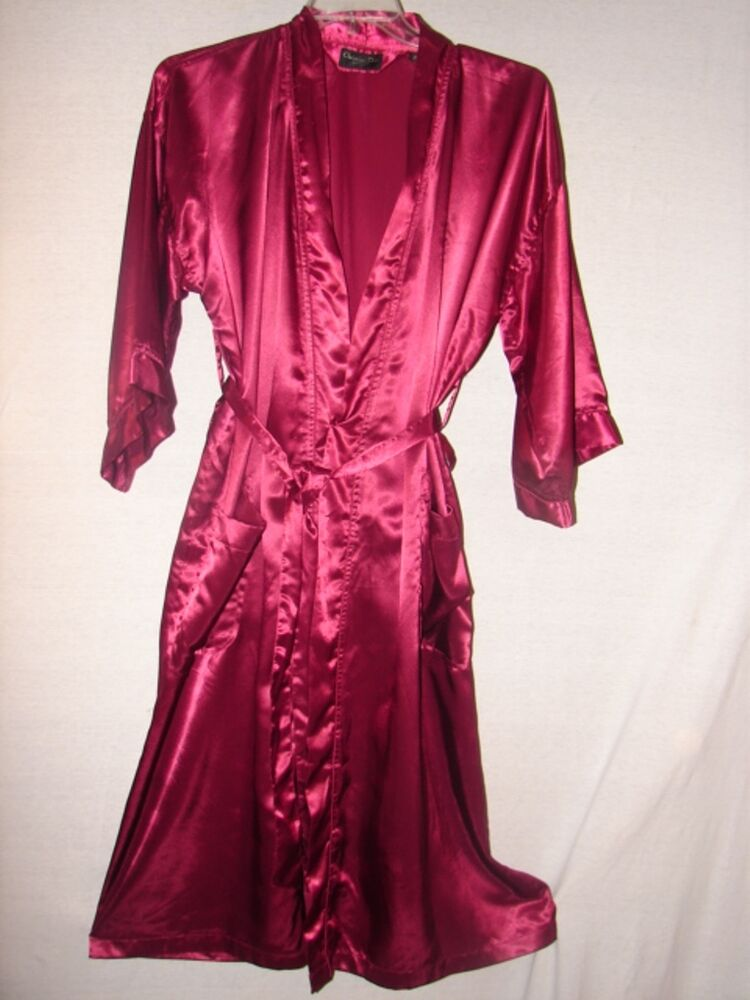 Burgundy velour robe small lingerie