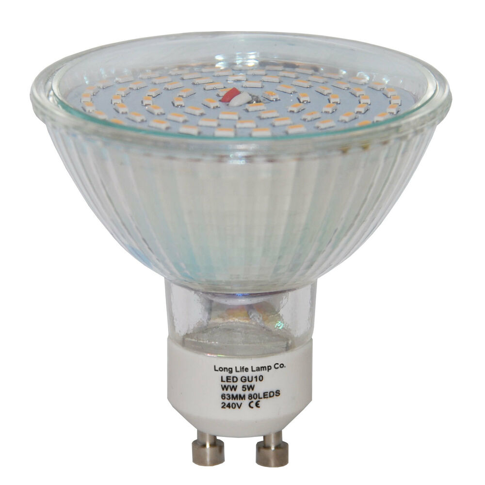 Gu10 led replacment halogen bulb 63mm 80led 800 lumens for Where to buy halogen bulbs