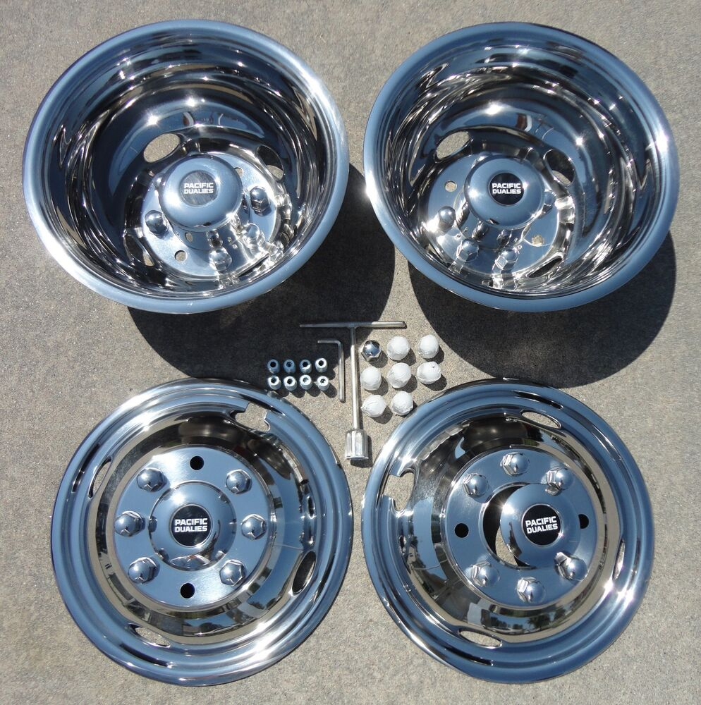 "99 02 16"" 2WD 4WD Ford F350 Dually Wheel Hubcaps"