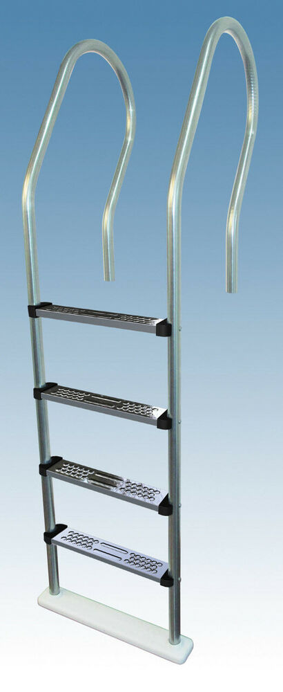 Sturdy hi rail stainless steel pool ladder steps above ground swimming pools ebay for Above ground swimming pool ladder parts