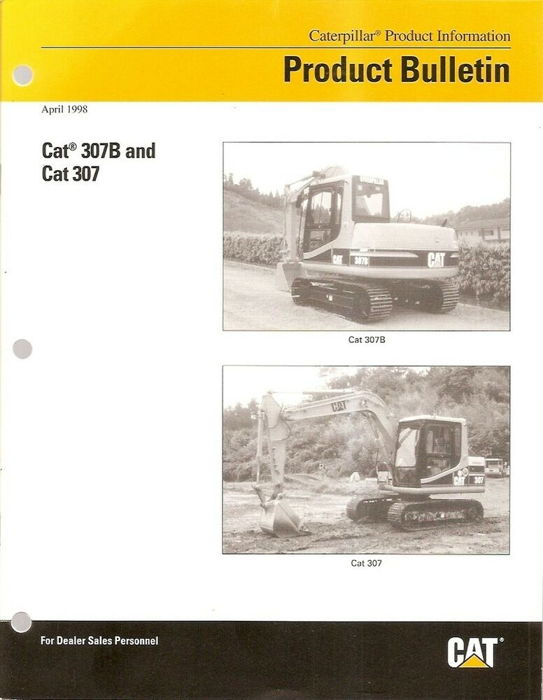 equipment brochure caterpillar 307 307b b series excavator 1998 e1008 ebay. Black Bedroom Furniture Sets. Home Design Ideas