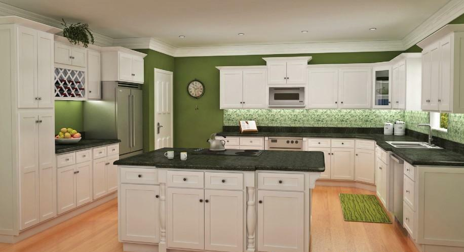 White Cabinets Shaker Door Style Discounted Kitchen