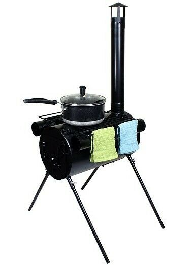 portable military camping wood stove tent heater cot camp ice fishing cooking rv ebay. Black Bedroom Furniture Sets. Home Design Ideas