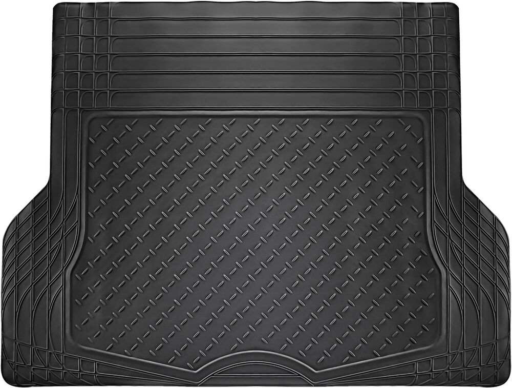 Trunk Cargo Floor Mats For Cars All Weather Rubber Black