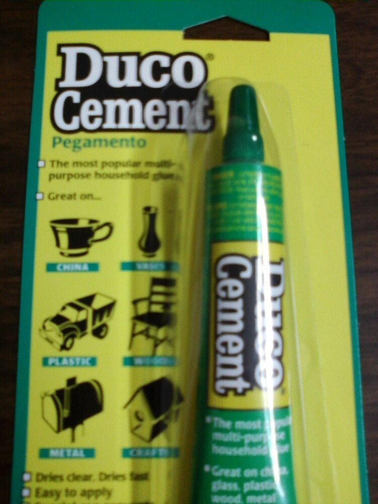 Duco cement 1 fl oz tube 62435 repair adhesive new ebay for Household cement