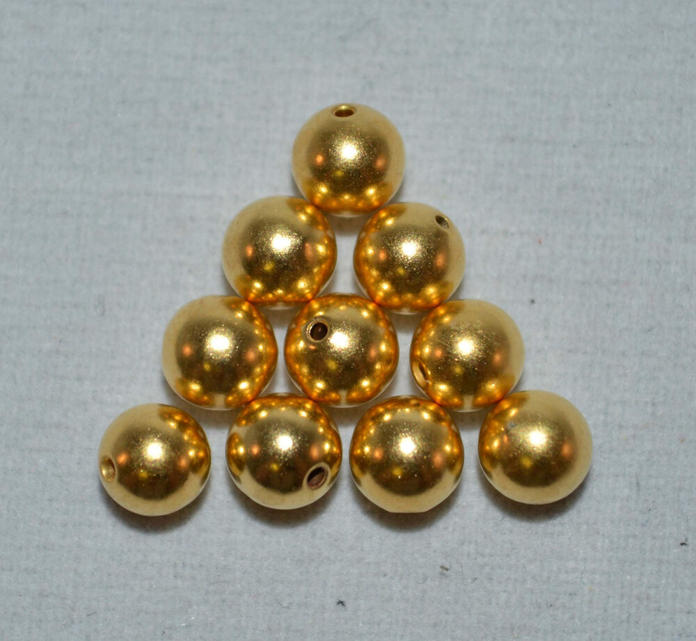 Pk beadalon memory wire gold plated mm round bead end