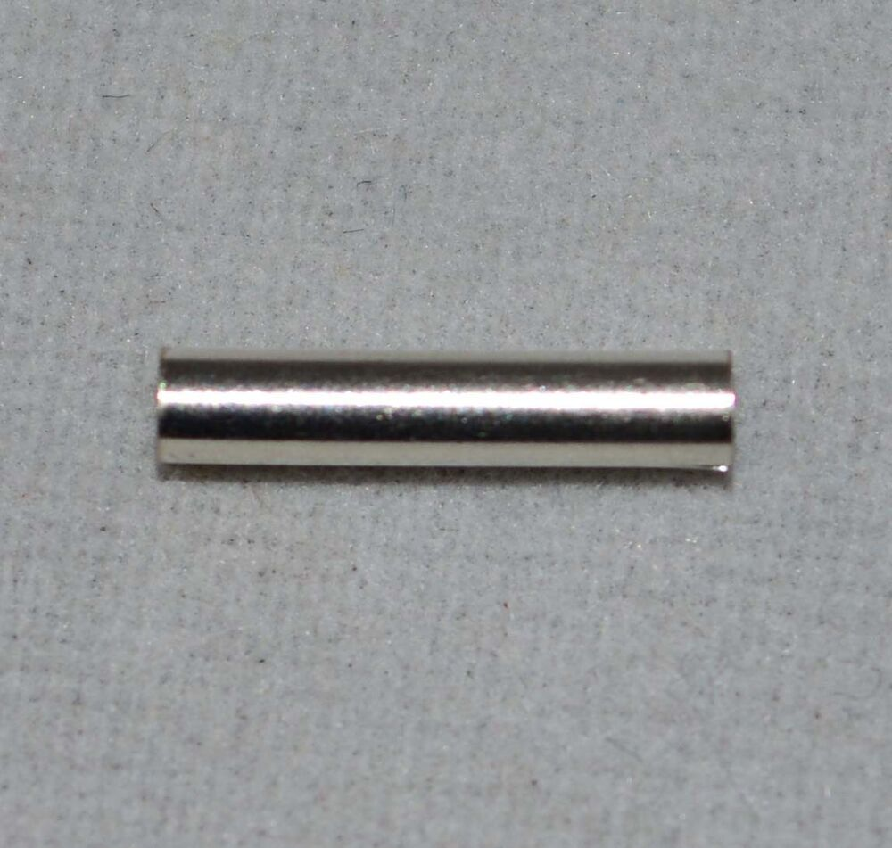 Sterling silver straight mm tube beads spacer