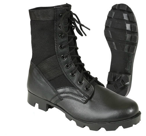Military Leather 8 Quot Jungle Boot Black With Vent Holes
