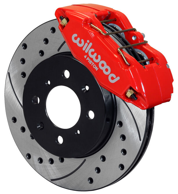 wilwood disc brake kit front stock replacement honda drilled rotors red calipers ebay. Black Bedroom Furniture Sets. Home Design Ideas