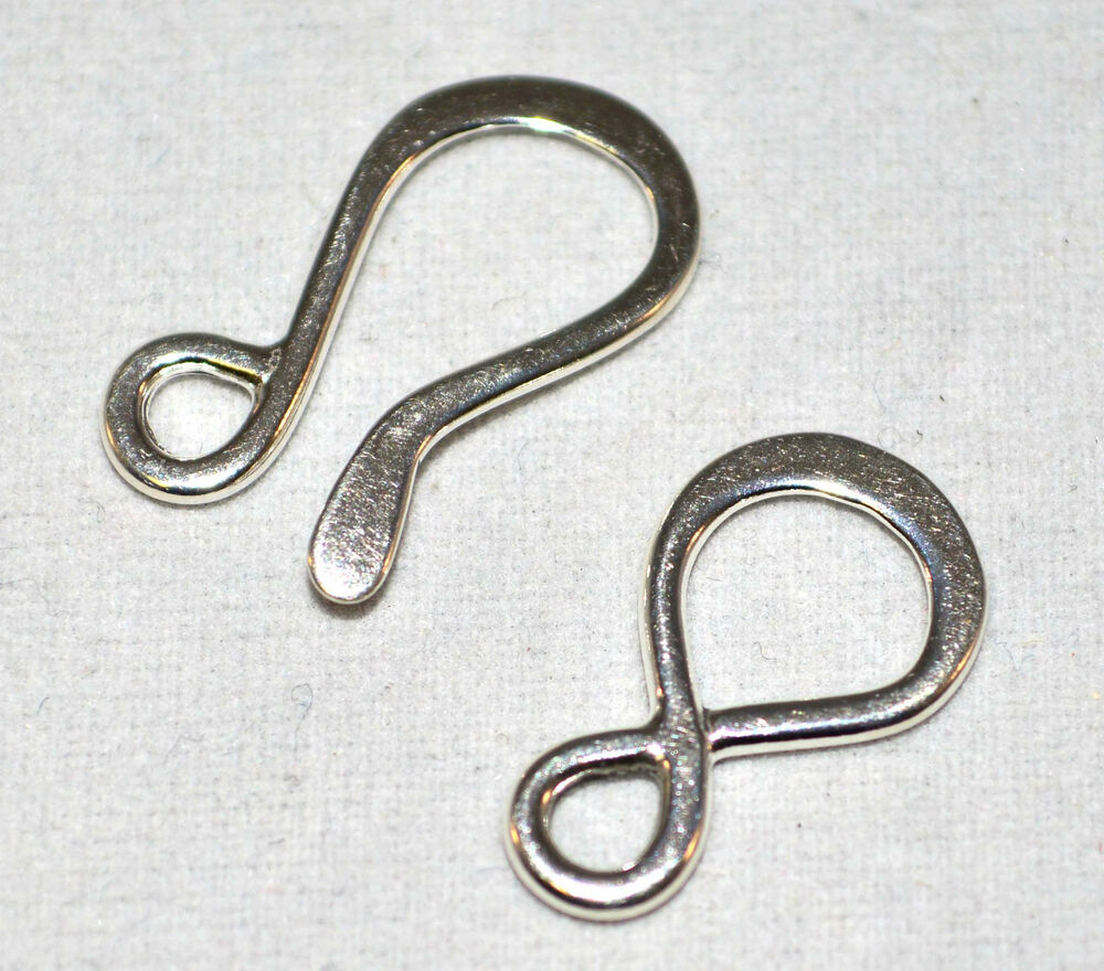 Large hook eye clasps 925 sterling silver jewlery for S hooks for crafts