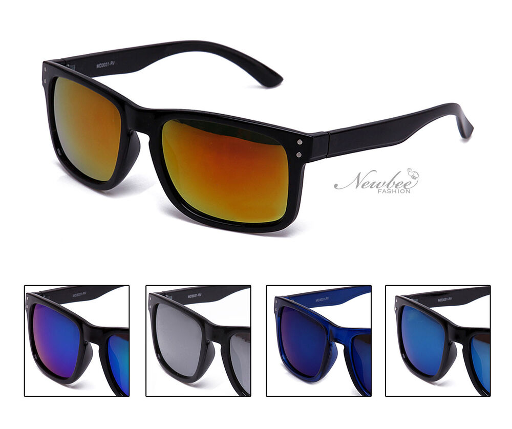 2 Pairs Men Sunglasses with Mirrored Reflective Flash ...