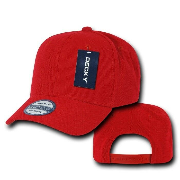 Details about Red Vintage Curve Bill Blank Solid Snapback Baseball Ball Cap  Caps Hat Hats 27720cc916d9