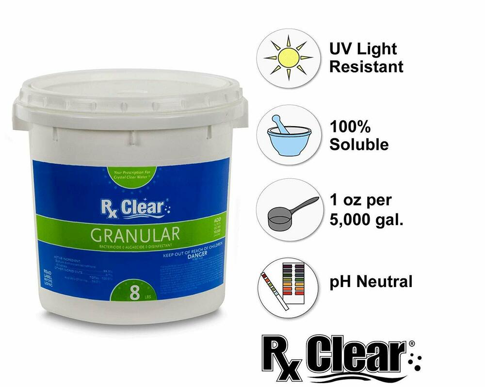 Rx Clear 99 3 Sodium Di Chlor Granular Swimming Pool