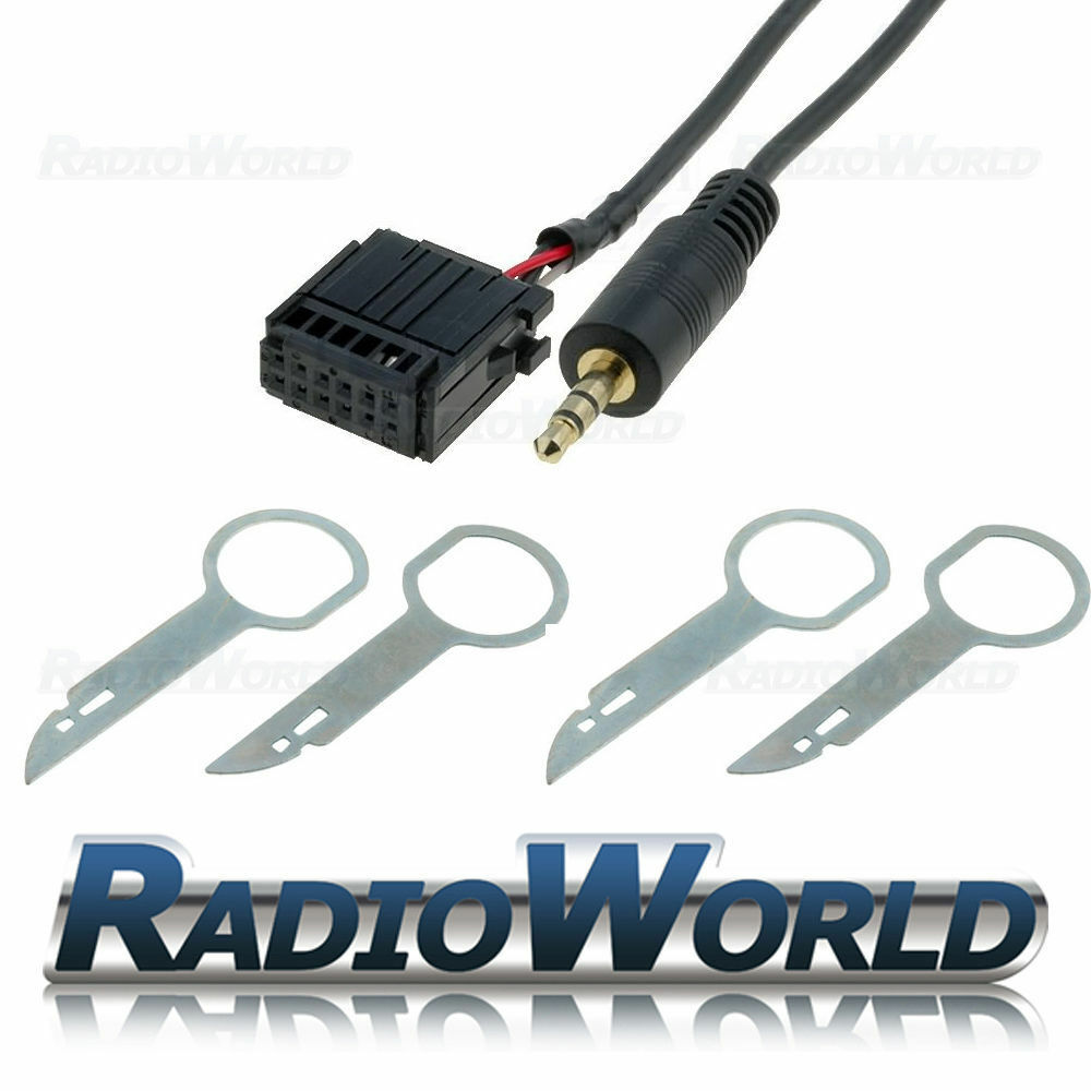 Ford Focus Mondeo Fiesta 6000cd Aux In Adapter Cable Ipod