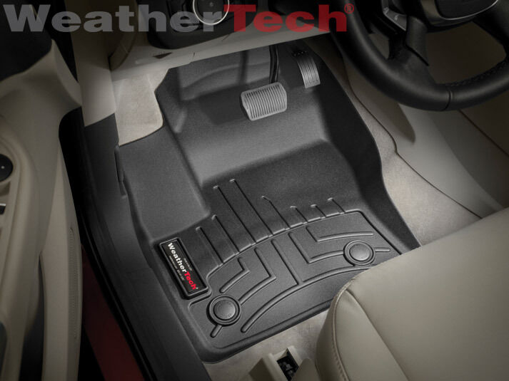 weathertech floor mats floorliner for ford escape 2013 2014 black ebay. Black Bedroom Furniture Sets. Home Design Ideas