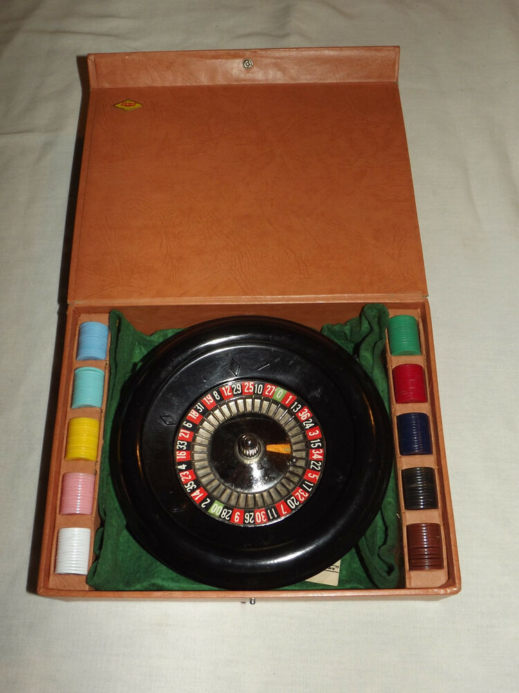 vintage gambling toy 1941 es lowe roulette wheel game ebay. Black Bedroom Furniture Sets. Home Design Ideas