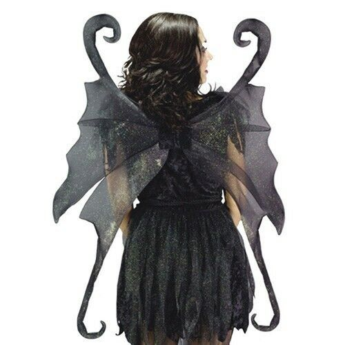 Adult Fairy Wings Costume Tinkerbell Green Black Goth ...