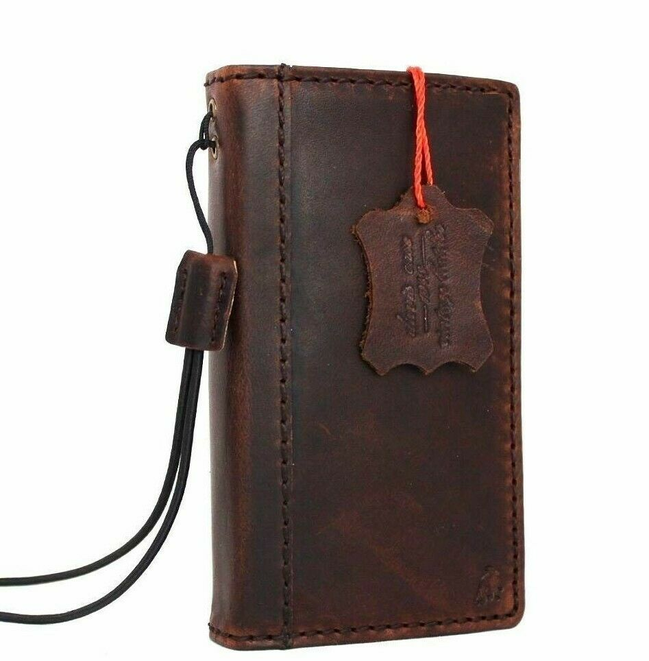 Old Book Case For Iphone : Genuine vintage real leather case for iphone s cover