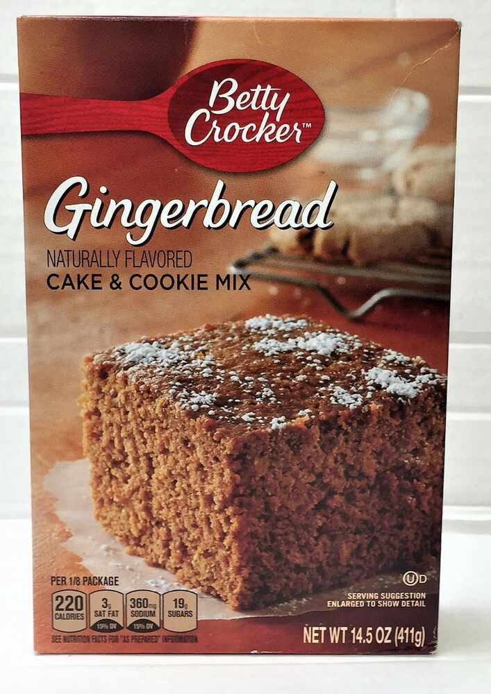 Betty Crocker Gingerbread Cake And Cookie Mix