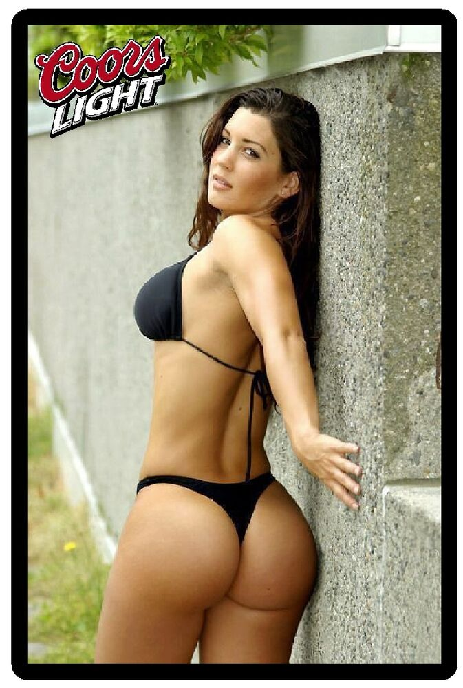 Details about Coors Light Beer Sexy Babe In Black Thong Bikini Refrigerator  Magnet