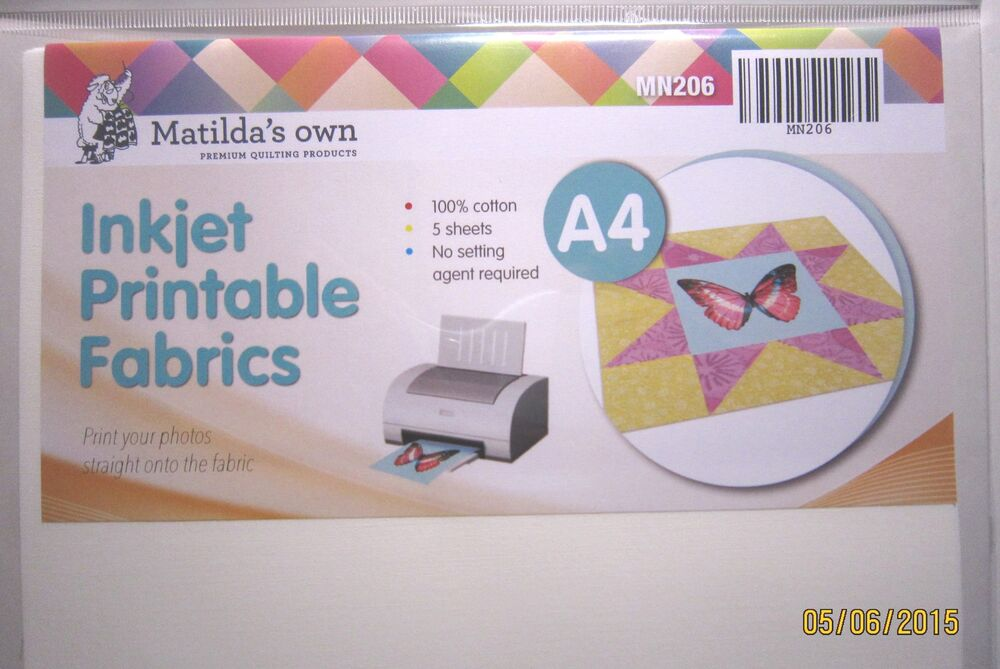 photograph relating to Inkjet Printable Fabric referred to as Inkjet Printable Material A4x5 sheets Matildas Personalized eBay