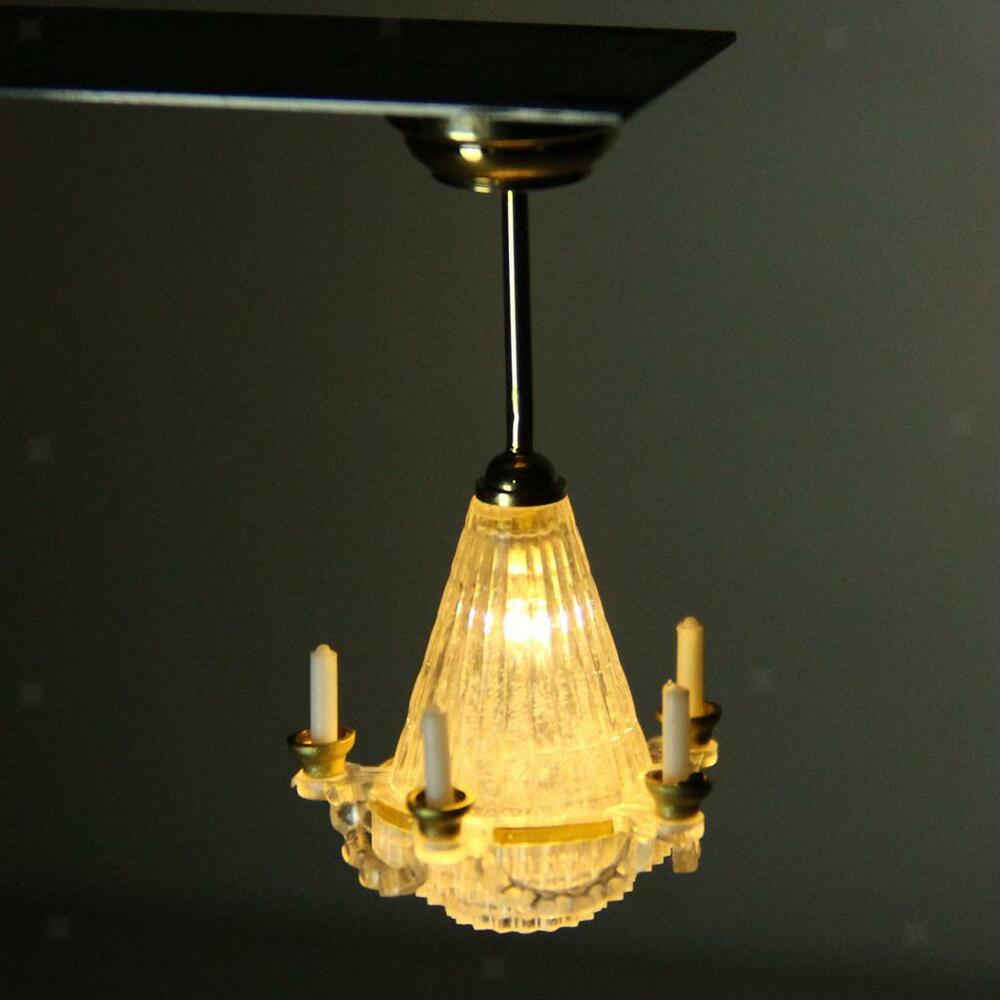 Dolls House Miniature Working LED Lamp Light Lighting