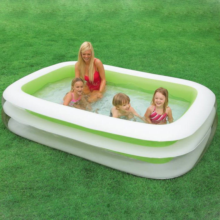 Paddling pool swimming pool jumbo pool intex large ebay Intex swim center family pool cover