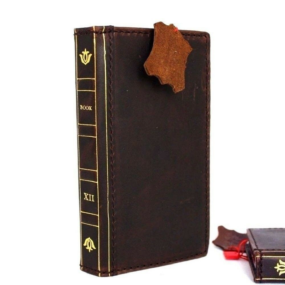 Genuine vintage leather case for iphone 5 5s 5c se book wallet cover cards slim ebay - Iphone 5s leather case ...