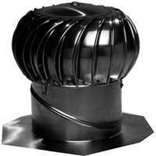 Whirlybird Roof Vents : New lamanco bib b turbine ventilator black  whirly