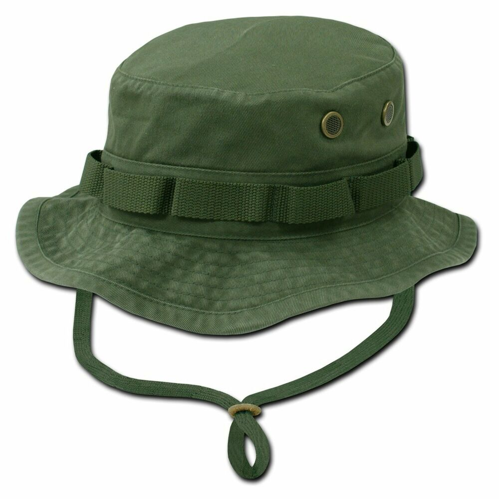 Olive green military boonie hunting army fishing bucket for Fishing bucket hats