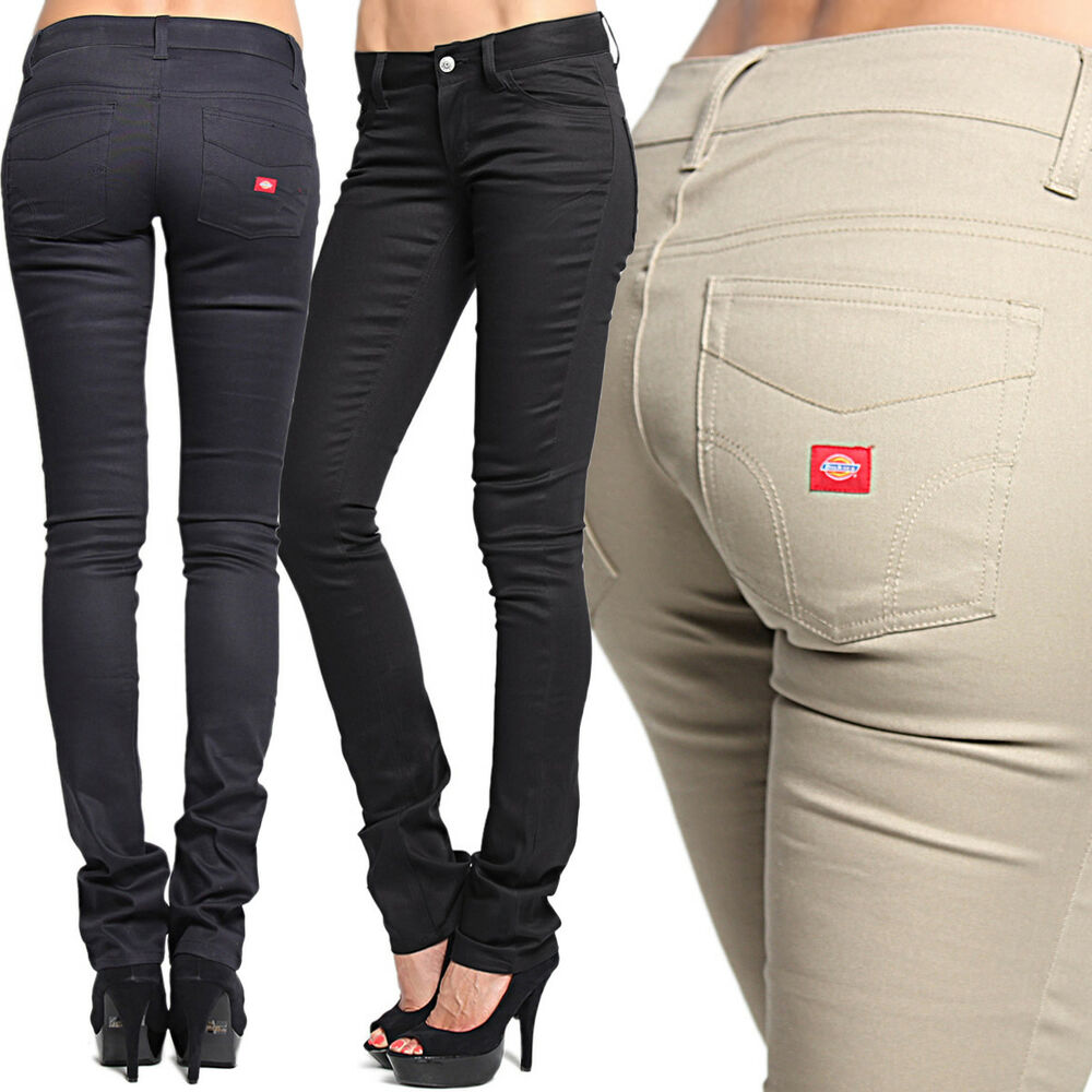 Model Dickies Girl HH166 Classic 5Pocket Straight Leg Pants Women Ladies