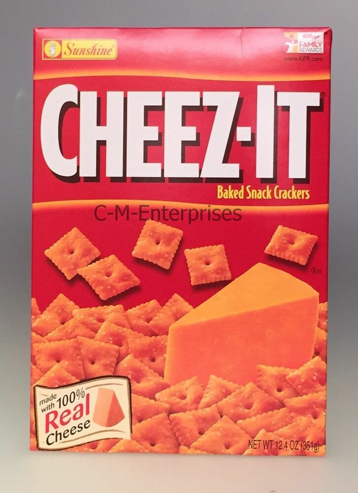 cheez it original cheese baked snack crackers 12 4 oz