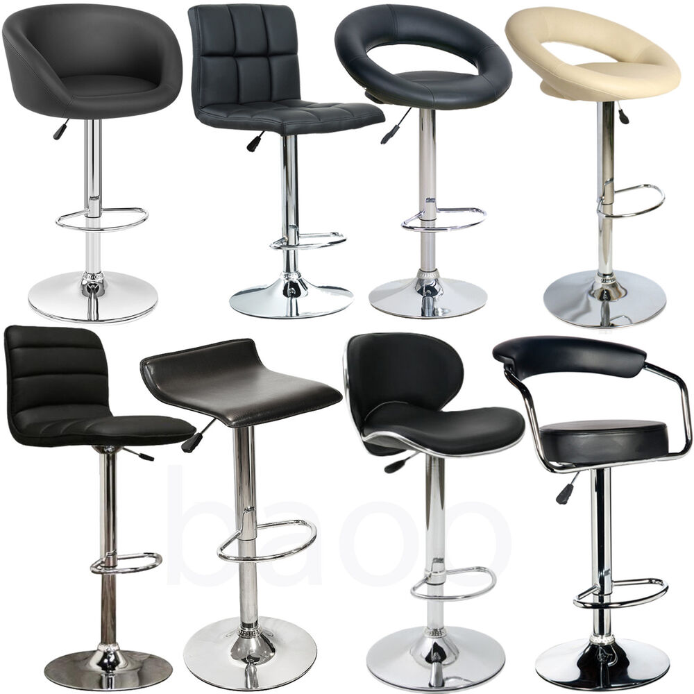 Baoo Faux Pu Leather Metal Base Kitchen Breakfast Bar Stools Dining Room Chair Ebay