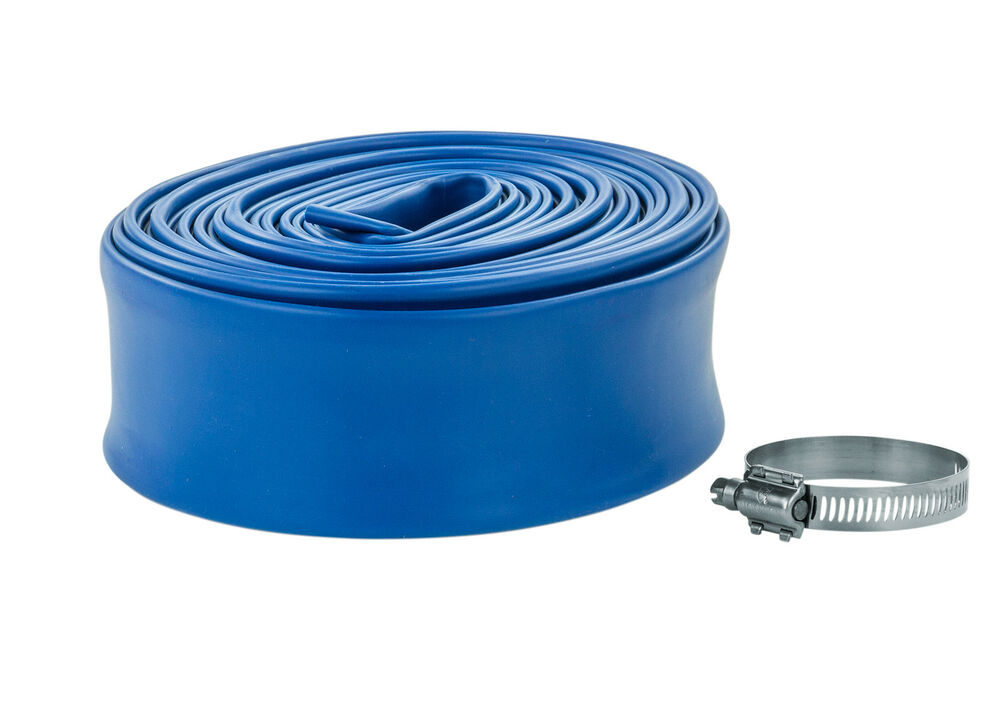 Swimming Pool Backwash Discharge Hose 1 1 2 In X 50 Ft W Band Clamp Ebay