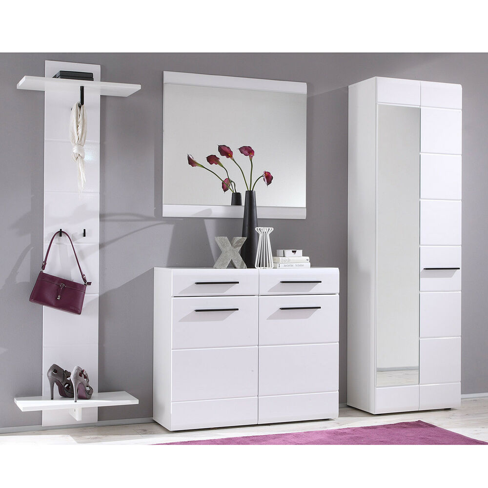 garderoben set derby spiegel kommode schrank 4 teilig in. Black Bedroom Furniture Sets. Home Design Ideas