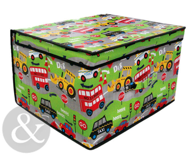kids jumbo storage boxes boys girls childrens laundry unit toy box ebay. Black Bedroom Furniture Sets. Home Design Ideas