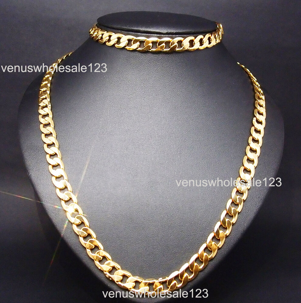 24k yellow gold filled 23 6 8 5 men 39 s jewelry chain for Gold filled jewelry
