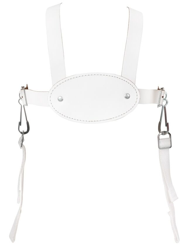 white leather harness for silver cross kensington balmoral coach built pram new