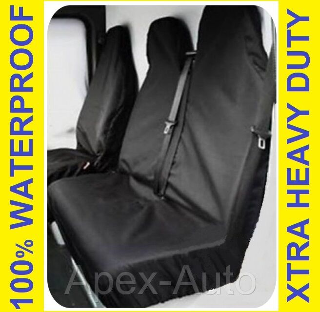 RENAULT TRAFIC SPORT Black Custom Van SEAT COVERS 100 WATERPROOF