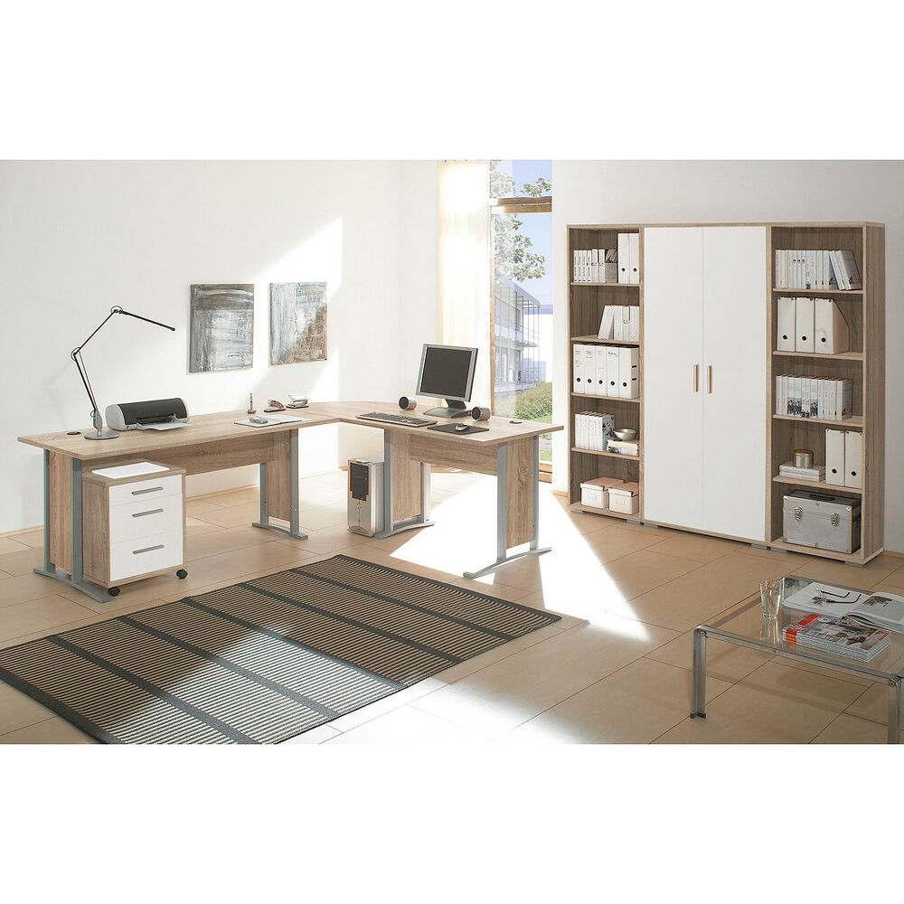 arbeitszimmer b ro office line schreibtisch regal. Black Bedroom Furniture Sets. Home Design Ideas